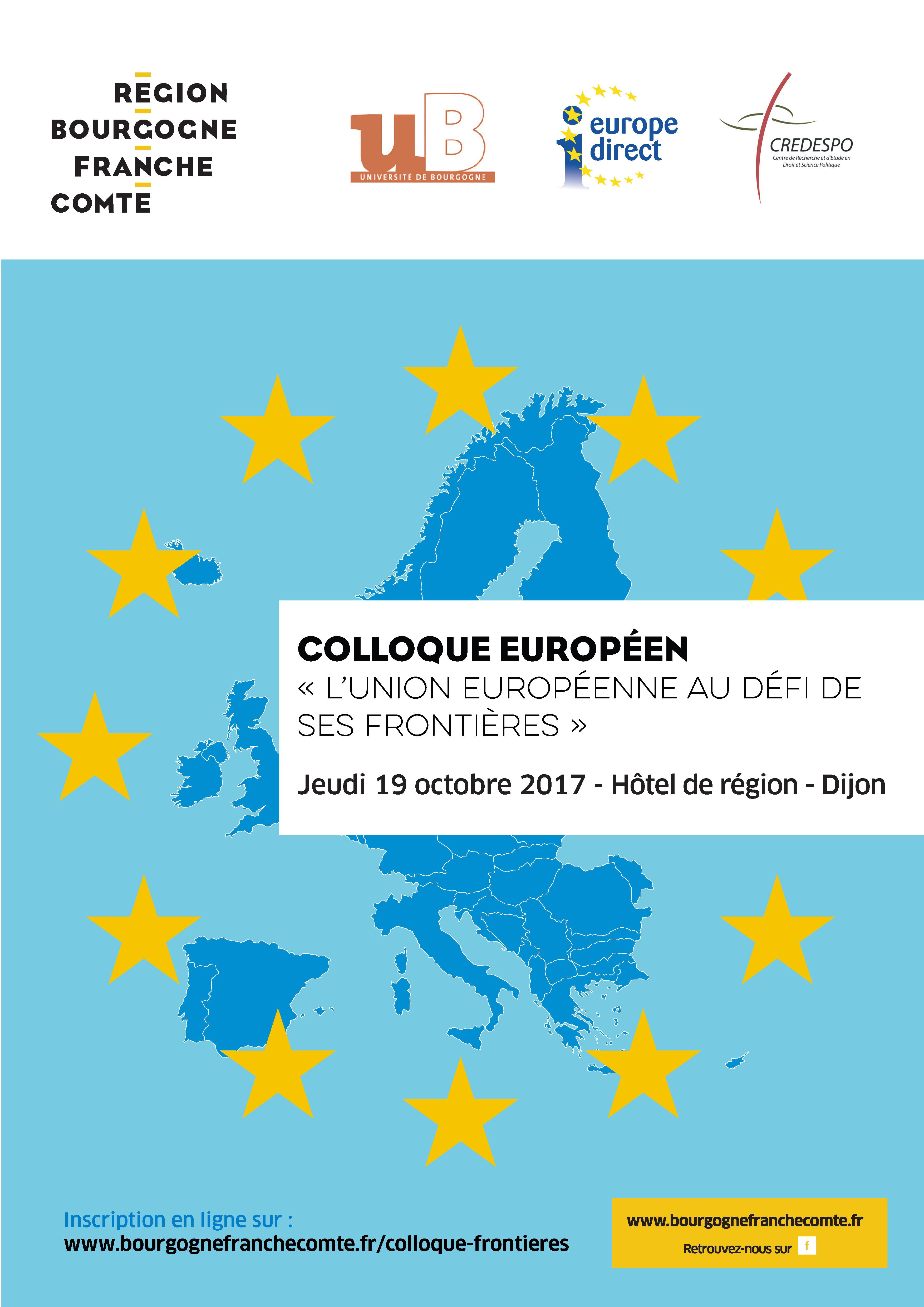 Affiche colloque frontières UE 19 octobre