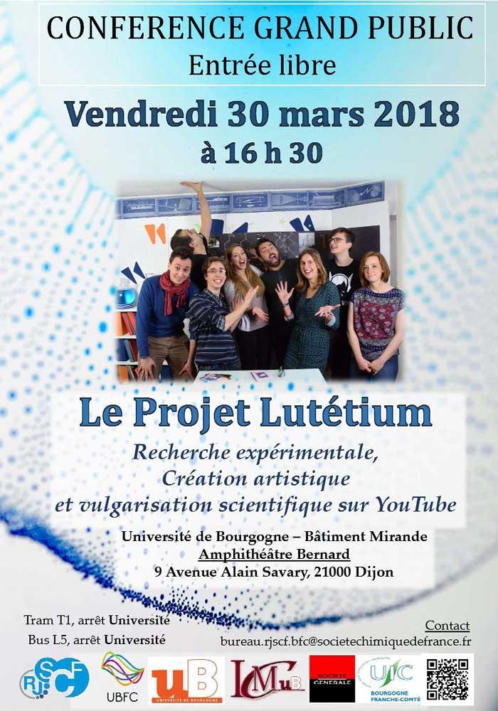 Affiche Conf Projet Lutetium2
