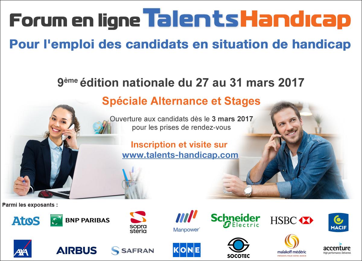 Affiche Talents Handicap Alternance mars2017