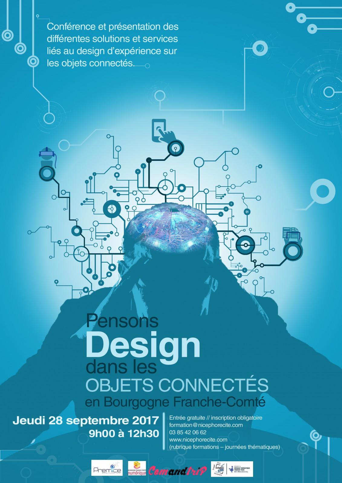 Affiche pensons design dans les objets connecte s