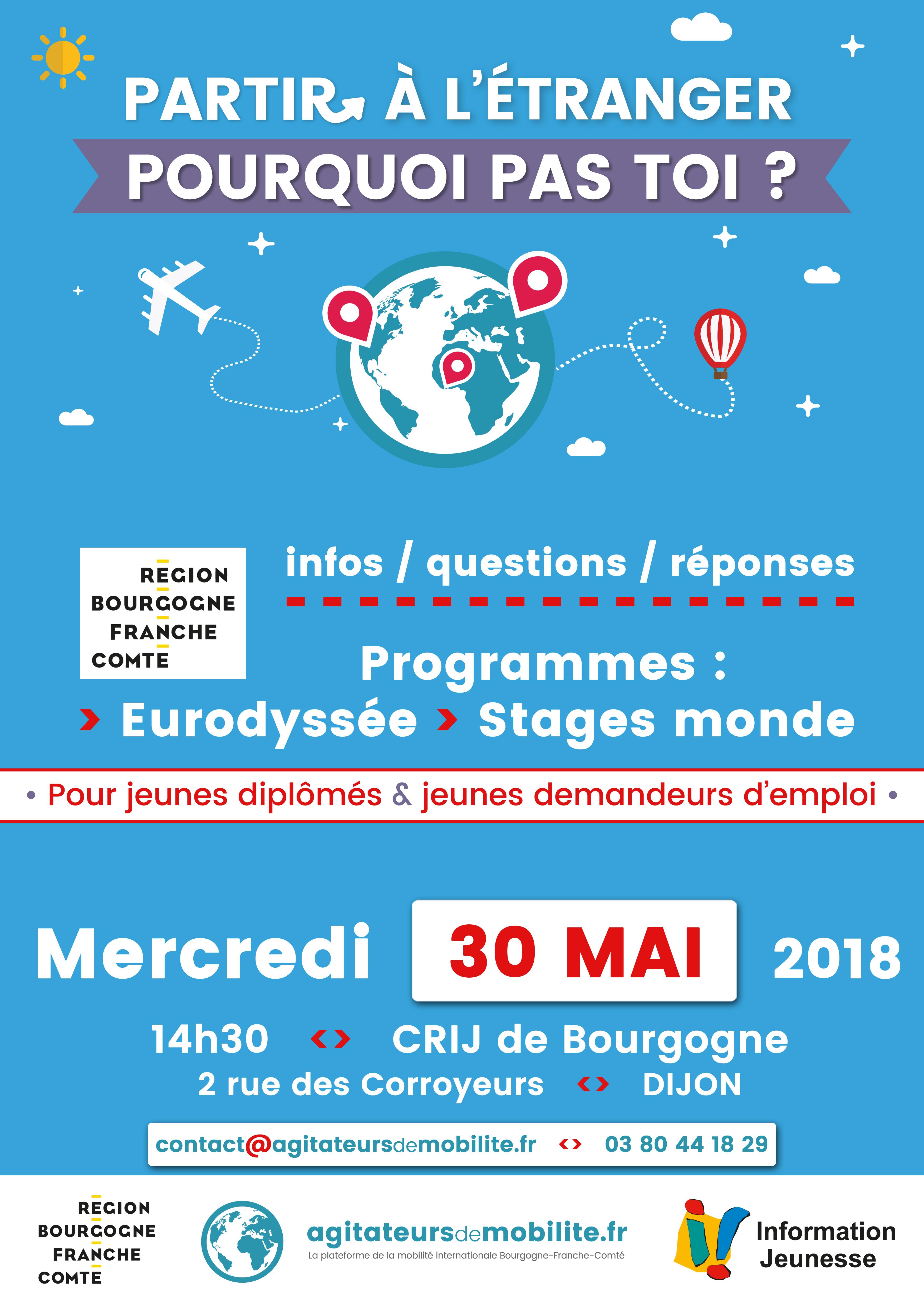 Affiche programmes Eurodyssées Stages Monde