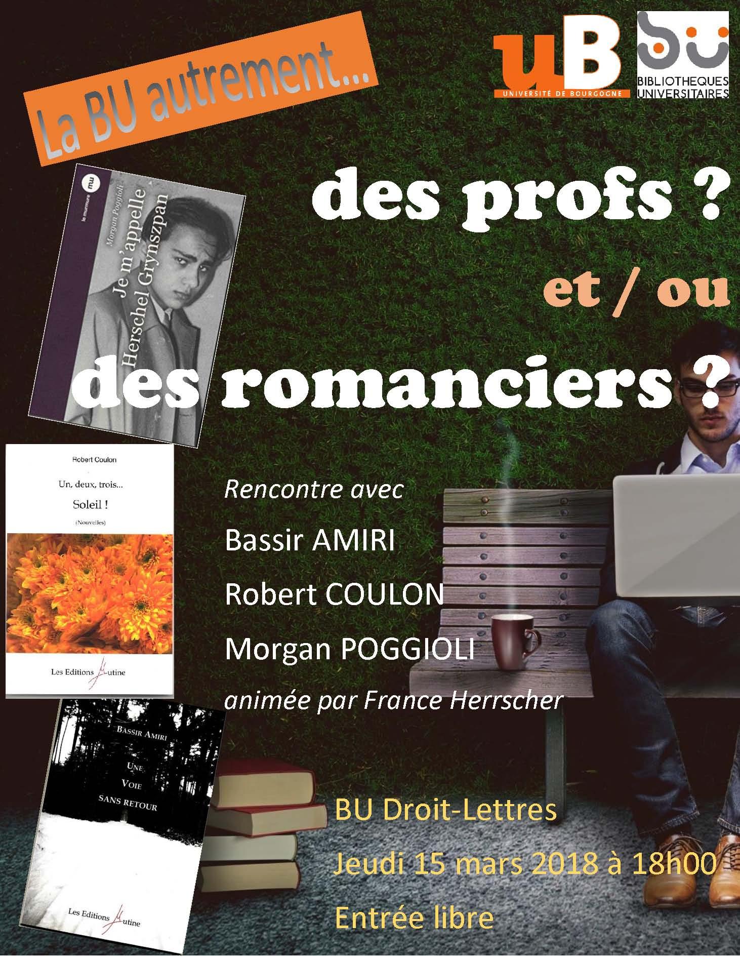 BU profs romanciers