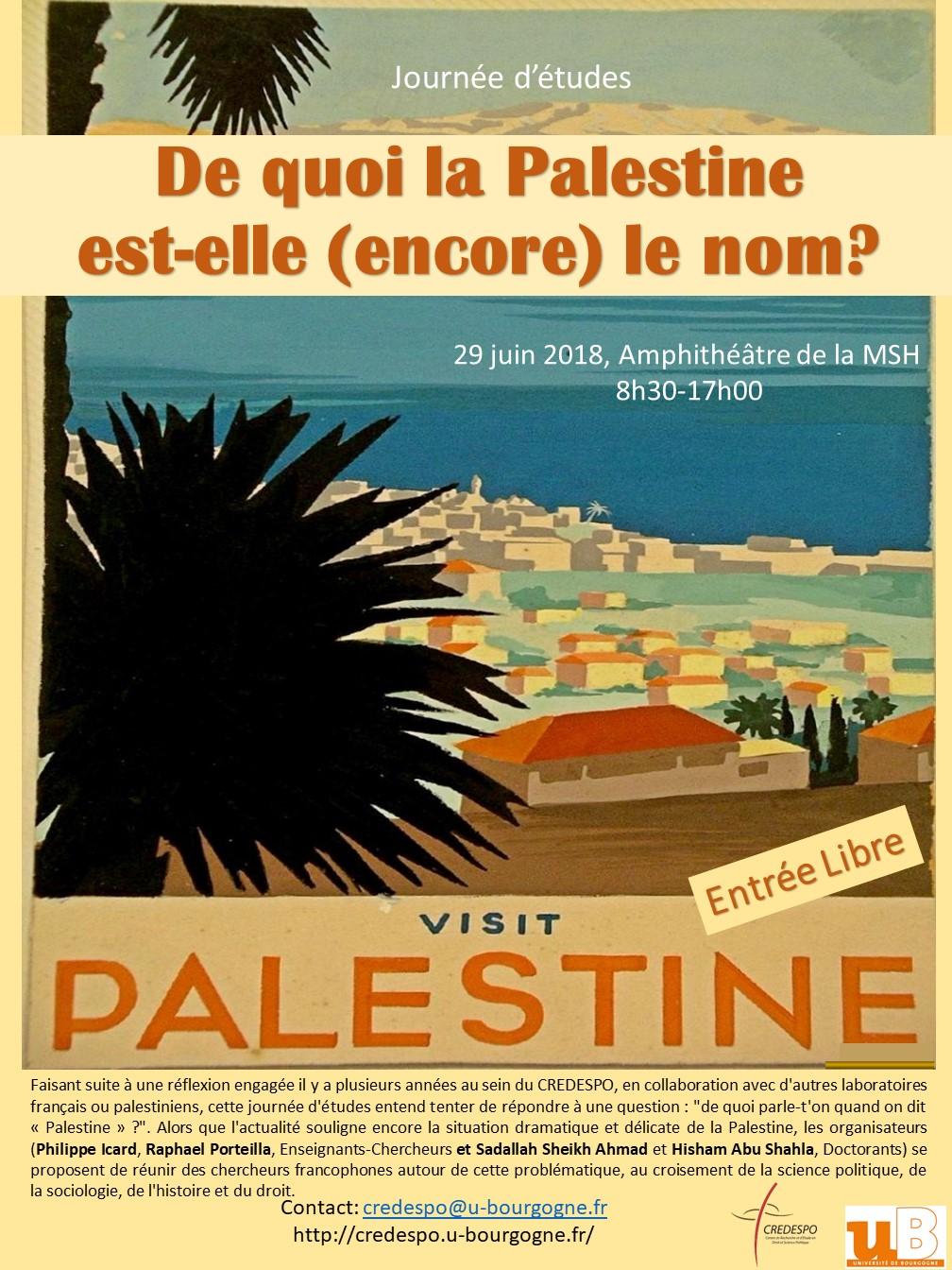 Grand Affiche JE Palestine Visit Palestine 3ok