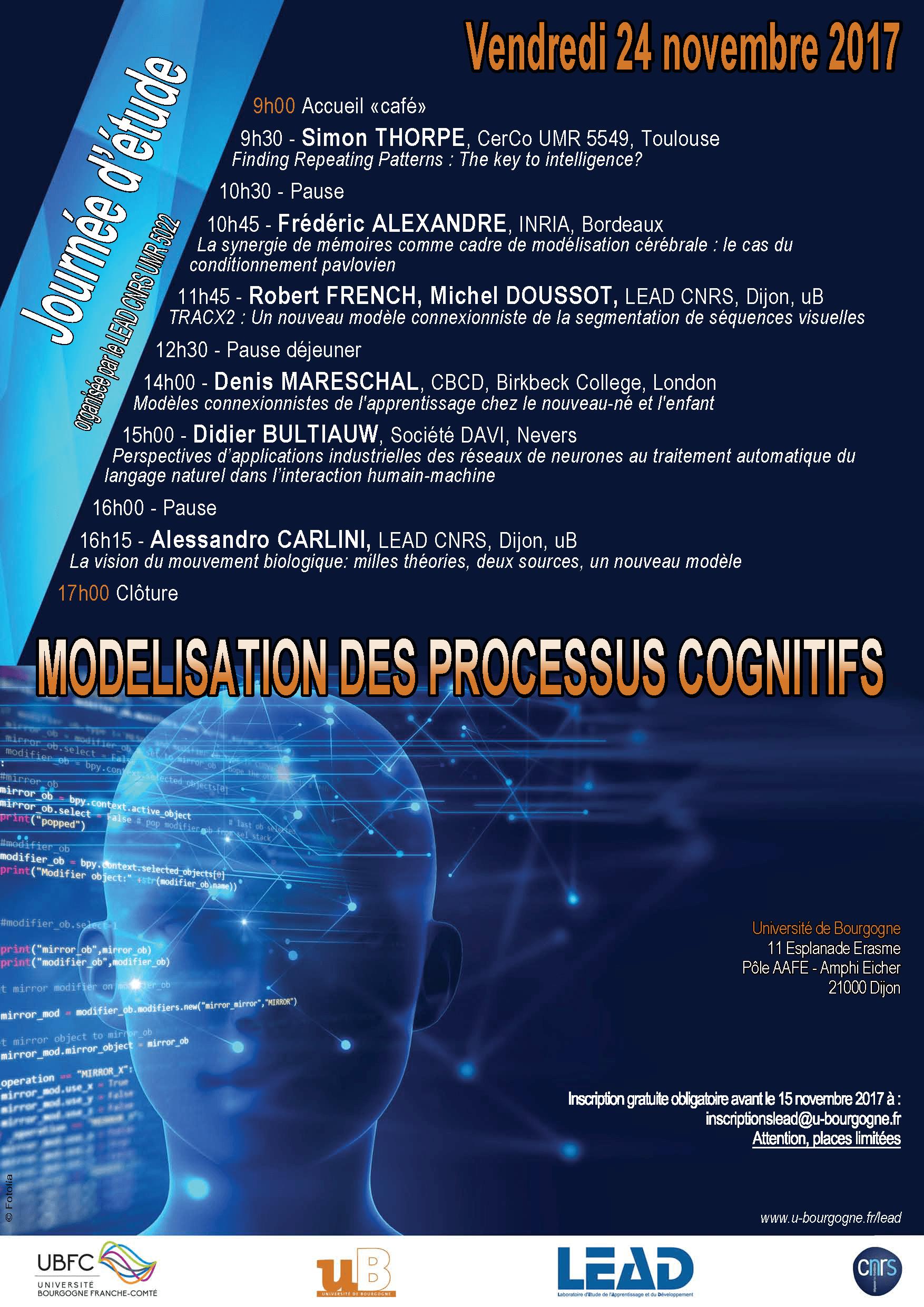 Journée détude LEAD Modelisation 24 novembre 2017