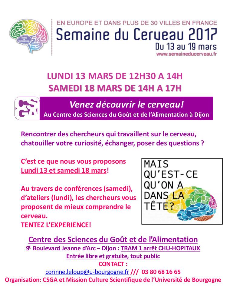 semaine du cerveau Dijon 2017