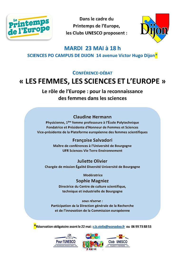 agenda conf debat femmes sciences europe2