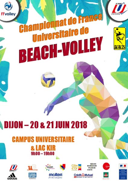 agenda tournoi beach volley 062018