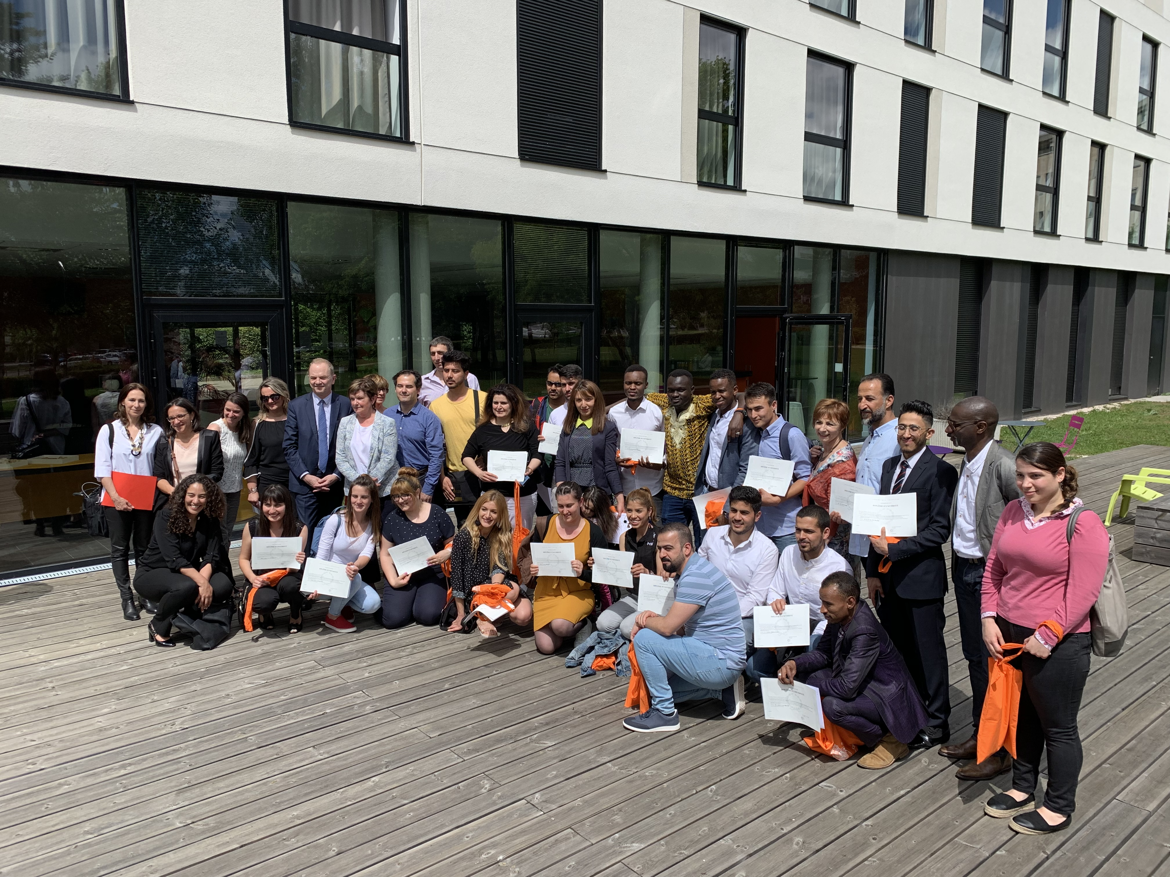 Retour en images : cérémonie de remise de diplômes du D.U. FLE pour l'insertion des publics migrants