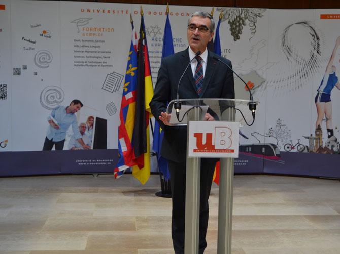 Discours d'Alain Bonnin, président de l'université de Bourgogne.
