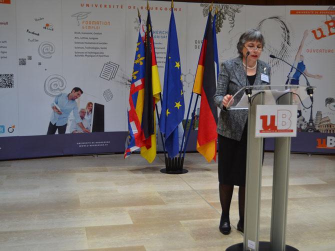 Mechthild Dreyer, vice-présidente de la Johannes Gutenberg-Universität Mainz.