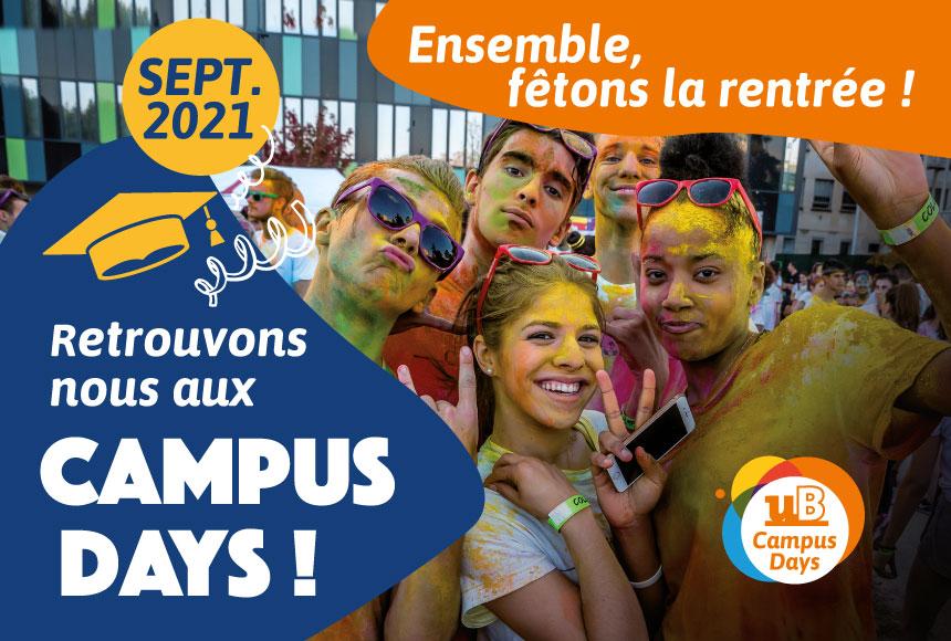 Découvrez le programme des Campus Days du 6 au 30 septembre !